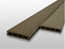 Hollow WPC Composite Decking - Natural