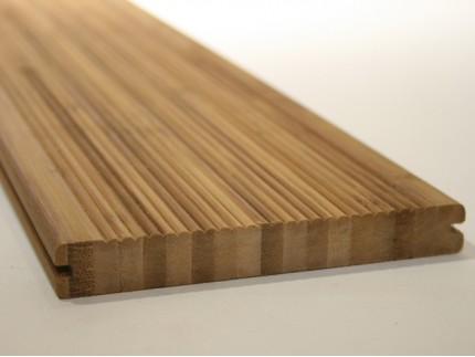 2.2m Bamboo Decking - Vertically laminated with moulding and 2 side grooves