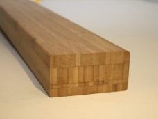 Solid bamboo dimensional lumber