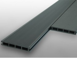 Hollow WPC Composite Decking - Stone