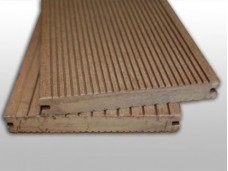 Solid WPC Composite Decking - Chestnut